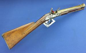 A very nice Antique 18th Century English Flintlock Blunderbuss Gun by John Bumford London, caliber 3,3 cm, length 81 cm, in very good condition. Price 3.250 euro