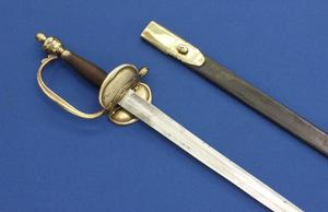 A very nice antique Dutch Infantry Officers Small Sword Model 1820, length 97 cm, in very good  condition. Price 495 euro