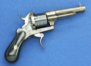 A very nice antique Liege Pinfire Revolver, caliber 7 mm, length 19 cm, in very good condition. Price 600 euro
