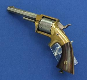 A very nice antique Lucius Pond Front Loading Separate Chambers Revolver, .32 RF caliber, 4