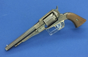A very nice antique Remington Elliot 1861 Navy Percussion Revolver, Early type, .36 caliber, length 35 cm, in very good condition.
