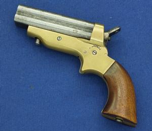 A very nice antique Sharps & Hankins 4 Shot Pepperbox Pistol Model  2 A, .30 RF caliber, length 16,5 cm, in very good condition. Price 950 euro