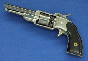A very scarce Antique American C.R Alsop Middletown, Conn.Pocket Percussion Revolver. Only 300 made! Lenght 25 cm, 31 caliber. In a very good condition. Price 1.950,- euro