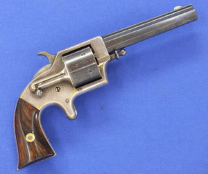 An antique American Civil War era Plant's Mfg Co. Front-loading, .42 cup-primed light frame Army 6 shot third model, type II Revolver. 4 3/4 inch octagonal ribbed barrel signed: Merwin & Bray New York. In very good condition. Price 1950,- euro.