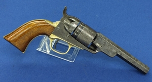 An antique Colt Model 1862 - 4 1/2  Inch Octagonal Barrel Pocket Navy Conversion Revolver, .38 caliber rimfire, length 26 cm, in very good condition. Price 2.350 euro