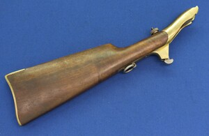 Copy of an American Shoulder Stock for Colt Army 1860 percussion revolver. SN 21670. In very good condition.