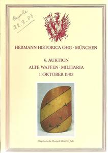 The Hermann Historica Auction Catalogue 1 October 1983. Price 15 euro.