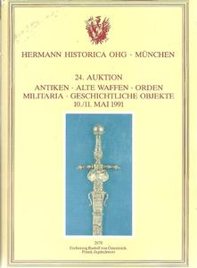 The Hermann Historica Auction Catalogue 10&11 May 1991. Price 25 euro