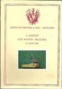 The Hermann Historica Auction Catalogue 12 June 1982. Price 15 euro.