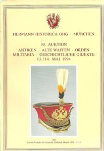 The Hermann Historica Auction Catalogue 13&14 May 1994. Price 25 euro