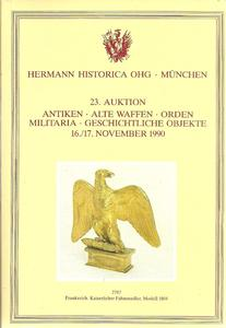 The Hermann Historica Auction Catalogue 16&17 November 1990. Price 25 euro