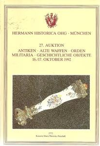 The Hermann Historica Auction Catalogue 16&17 October 1992. Price 25 euro