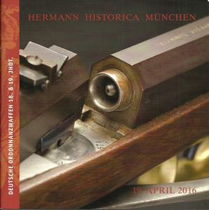 The Hermann Historica Auction Catalogue 19 April 2016. 58 pages. Price 10 euro