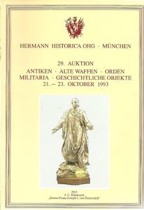 The Hermann Historica Auction Catalogue 21-23 October 1993. Price 25 euro