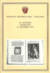 The Hermann Historica Auction Catalogue 21 October 1993. Price 10 euro