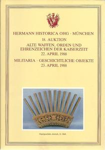 The Hermann Historica Auction Catalogue 22&23 April 1988. Price 25 euro