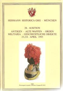 The Hermann Historica Auction Catalogue 23&24 April 1993. Price 25 euro