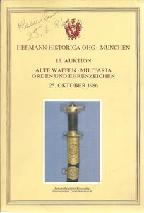 The Hermann Historica Auction Catalogue 25 October 1986. Price 25 euro