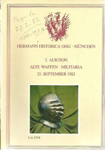 The Hermann Historica Auction Catalogue 25 September 1982. Price 15 euro