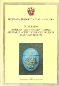 The Hermann Historica Auction Catalogue 25&26 October 1991. Price 25 euro