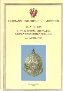 The Hermann Historica Auction Catalogue 26 April 1986. Price 20 euro.