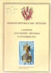 The Hermann Historica Auction Catalogue 27 November 1982. Price 15 euro