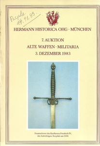 The Hermann Historica Auction Catalogue 3 December 1983. Price 15 euro