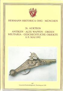 The Hermann Historica Auction Catalogue 8&9 May 1992. Price 25 euro